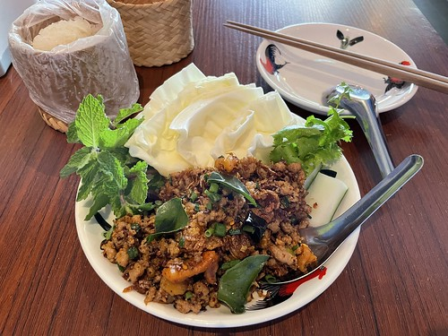 Spicy Chiang Rai Minced Pork with Aromatic Thai Herb Salad