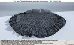 """.:Tm:.Creation """"Frill heart"""" Rug with pillows with anims. R11"""