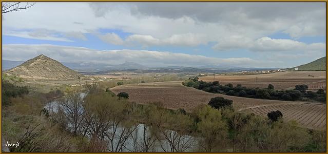 El Ebro por El Cortijo (La Rioja, España, 21-3-2021)