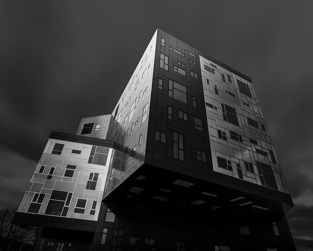 Modern architecture Krieau Vienna (Fine Art)