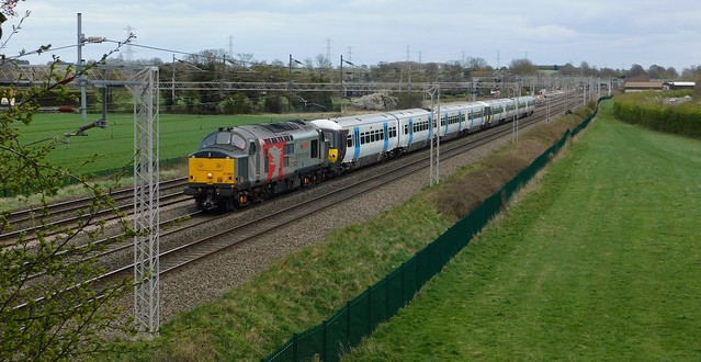 37884 + 365539 + 365511 - Rugeley North Junction, Colton, Staffordshire
