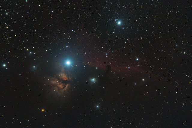 Horsehead and Flame Nebulae (reprocessed)