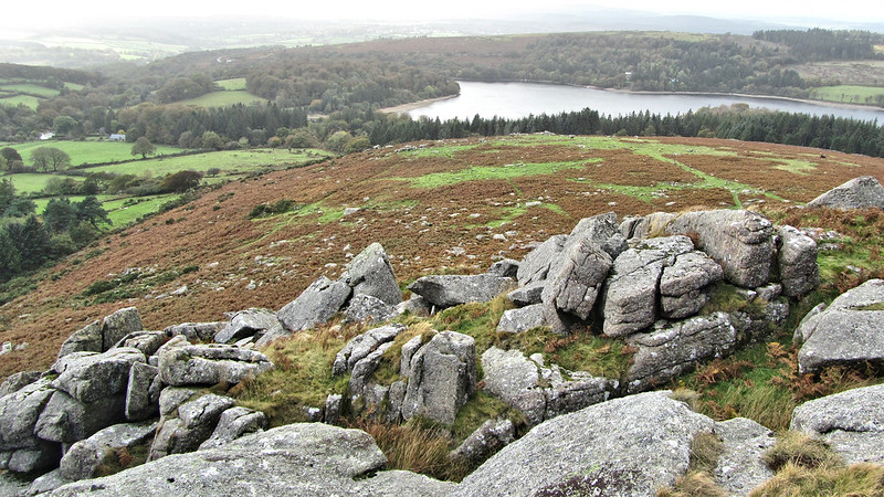 Sheeps Tor, looking down to the Burrator Reservoir