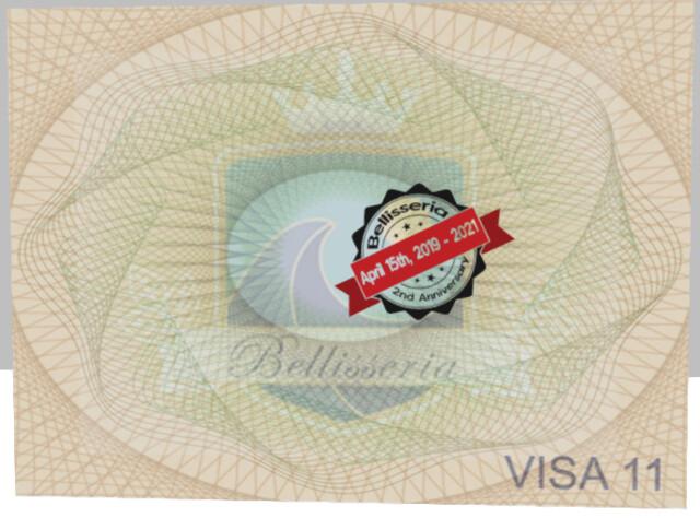 Rare Bellisseria Anniversary Stamp