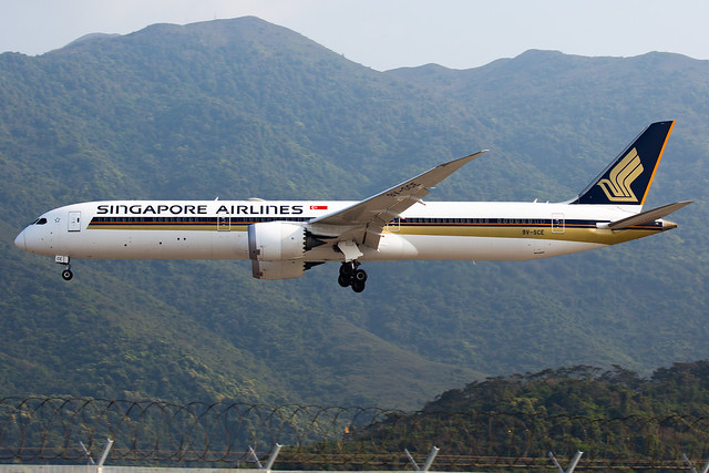 Singapore Airlines | Boeing | 787-10 | 9V-SCE
