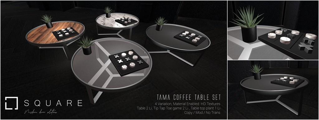 Tama Coffee Table set