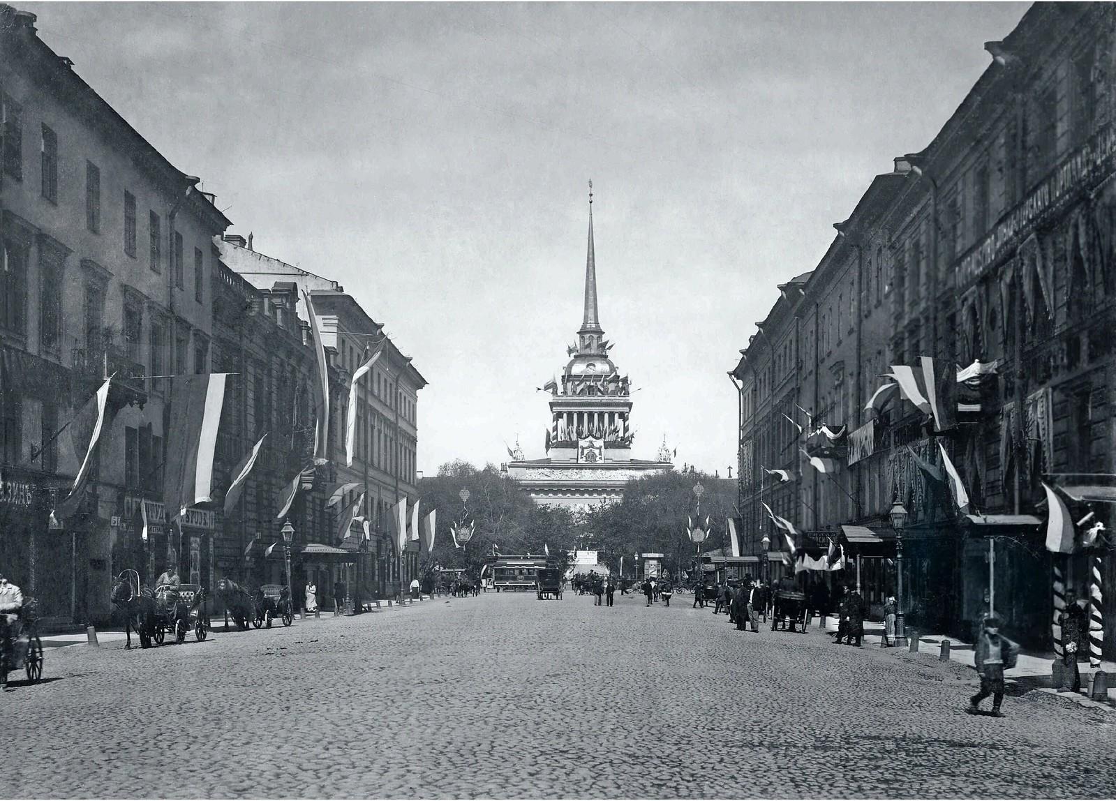 31. 1900-е. Вид на Адмиралтейство