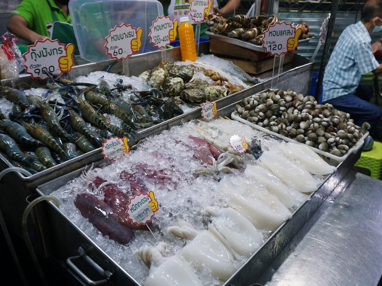 night market seafood Bangkok