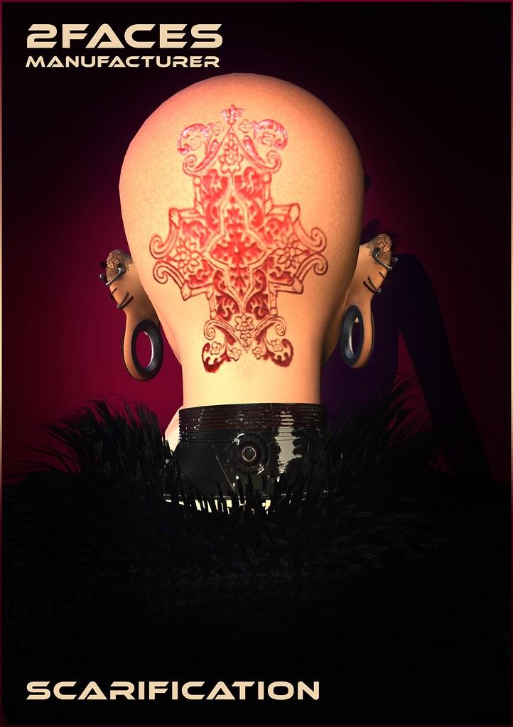 2faces - scarification - bom tattoos