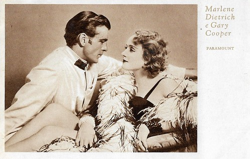 Marlene Dietrich and Gary Cooper in Morocco (1930)