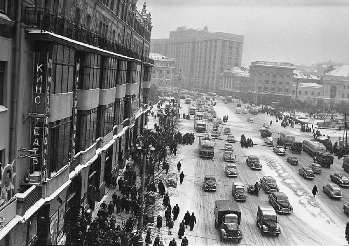 1956. Моховая, гостиница Метрополь