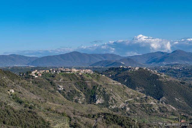 Hills and mountains in Northern Lazio (Italy).