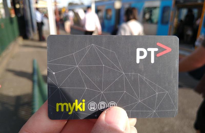 Myki card and a train