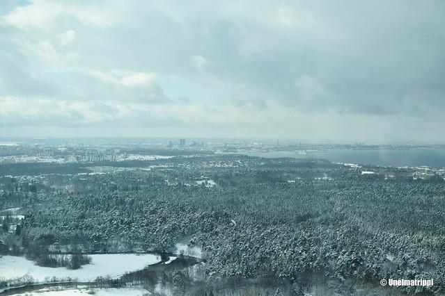 Talvinen maisema Tallinnan tv-tornista