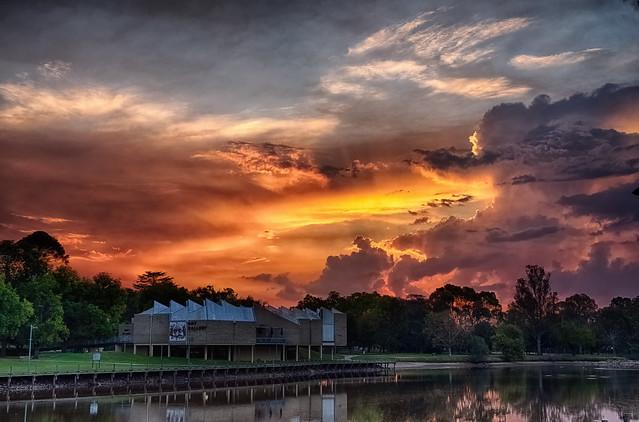 Sunset at Lake Benalla