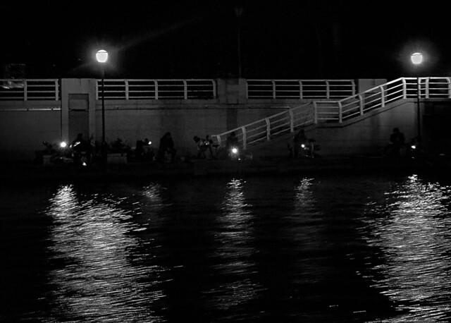 night fishing in Tianjin