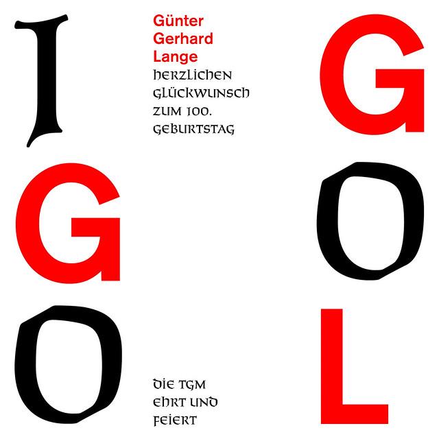 Key Visual zum 100. Geburtstag von Günter Gerhard Lange (GGL)