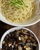 Jjajangmyeon (aka black bean noodle) at Huang Mi Noodle House inside G Mart. Large serving size & a good amount of beef in the sauce. Really good! #jjajangmyeon #jajangmyeon #blackbeannoodles #koreanfood #koreannoodles #lynnwoodwa #gmart