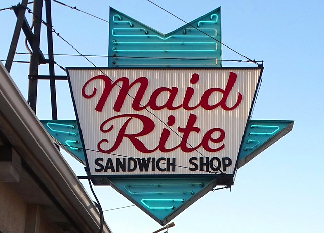 IL, Quincy-Maid Rite Sandwich Shop Sign