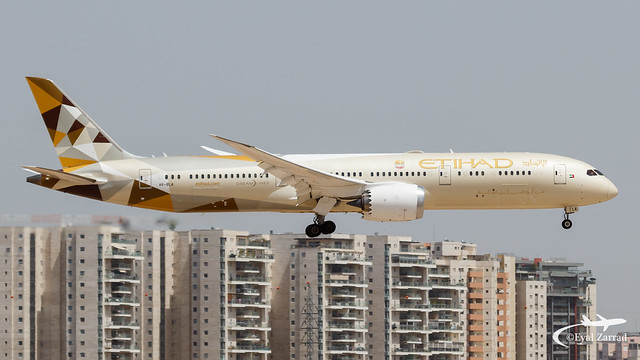 TLV - *Welcome* Etihad Airways Boeing 787-9 A6-BLA