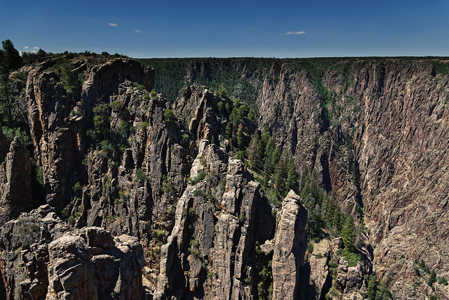 A Told Story of Rock Formations While Taking in Views at Islands Peaks View (Black Canyon of the Gunnison National Park)
