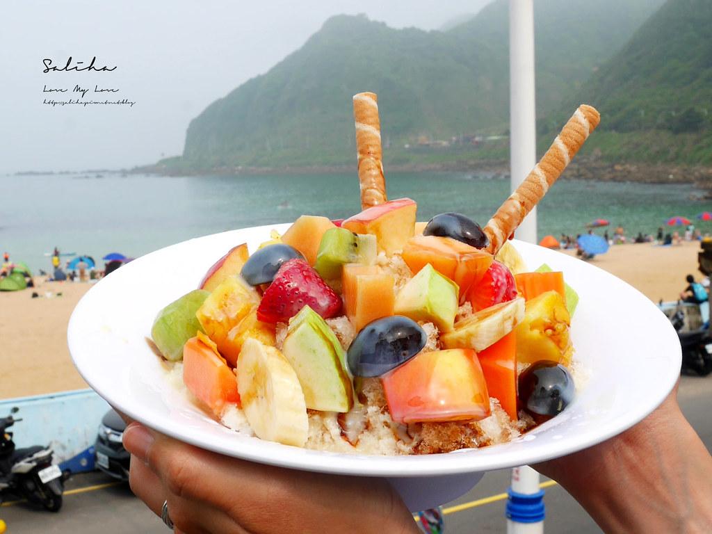 基隆冰品外木山冰品下午茶飲料推薦喫吧海鮮好吃彭湃水果冰北海岸一日遊景點 (1)