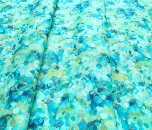 Michael Miller Fabrics Floral Fancy DCX9696-AQUA Shining Sequence Aqua