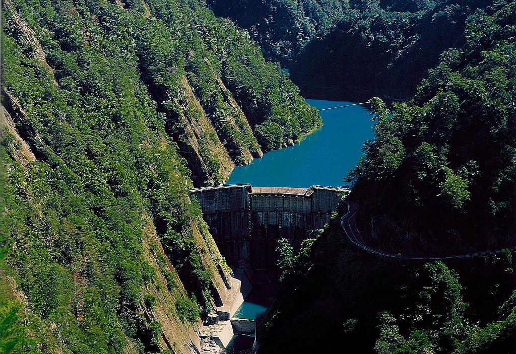 位於大甲溪流域的谷關水庫。圖片來源:水利署中區水資源局