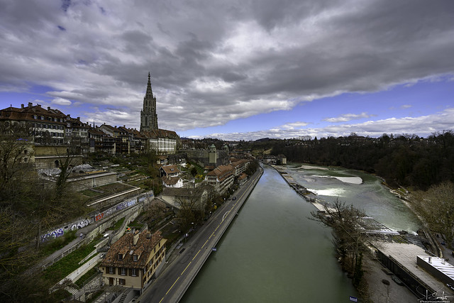 View from the Kirchenfeld bridge - Bern City - Switzerland