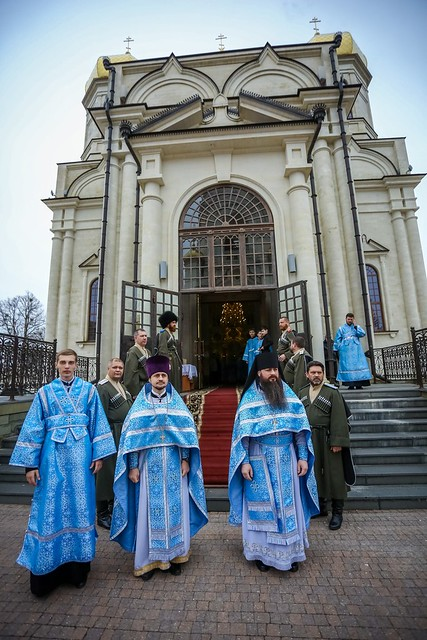 07 апреля 2021, В праздник Благовещения Пресвятой Богородицы митрополит Кирилл совершил Литургию в Казанском кафедральном соборе