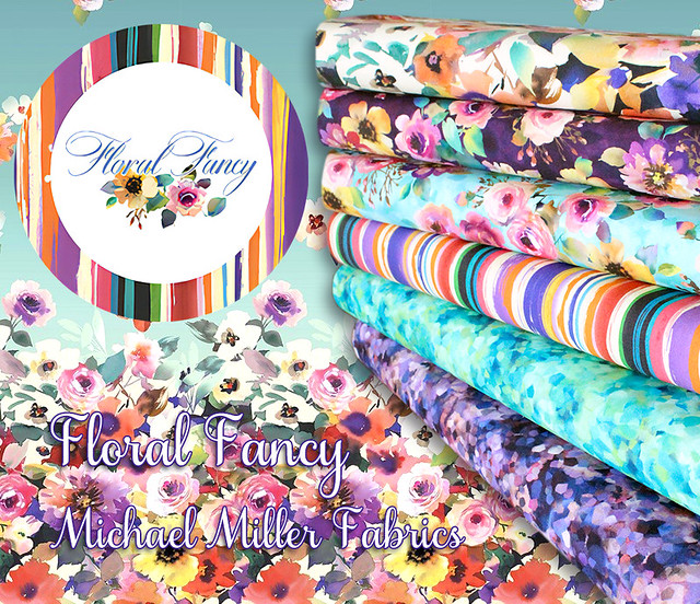 Michael Miller Fabrics Floral Fancy Collection
