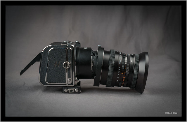 Hasselblad 907X with Distagon 4/40mm on  Fotodiox tilt/shift adapter