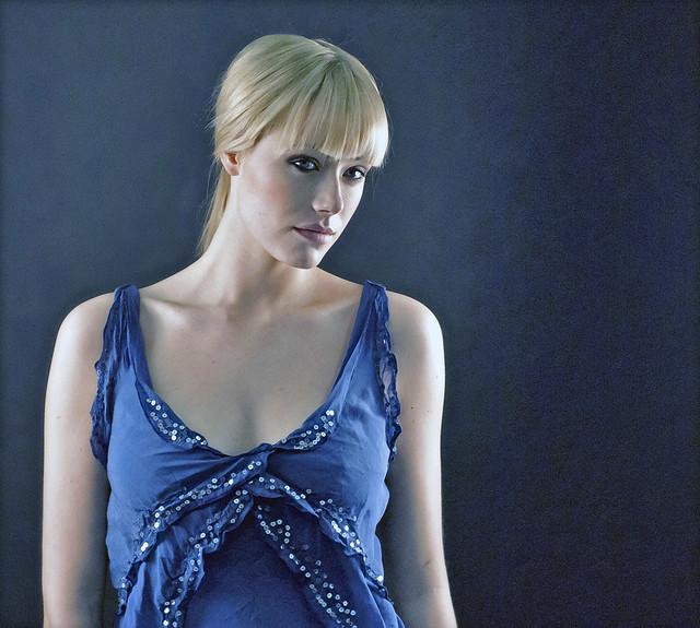 Blond in blue 2