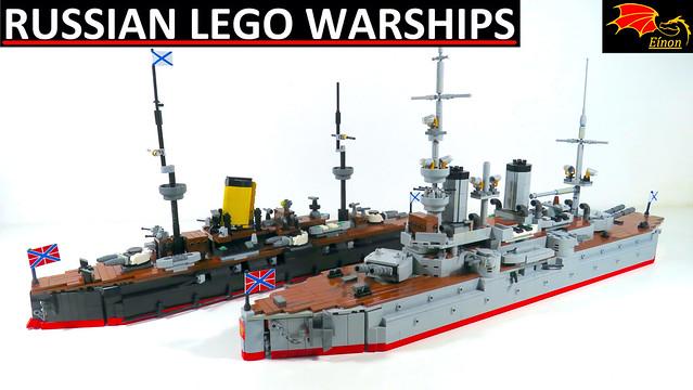 Youtube video LEGO warship models