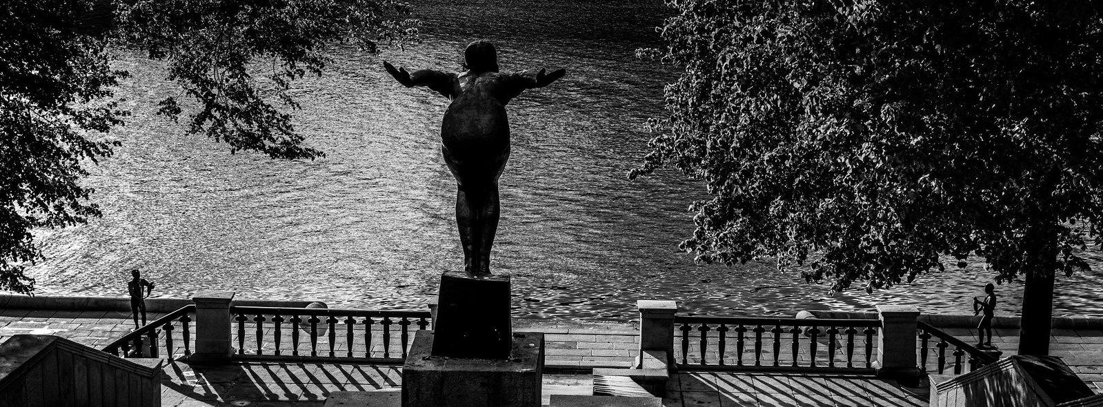 Фонтан Купальщица в Нескучном саду