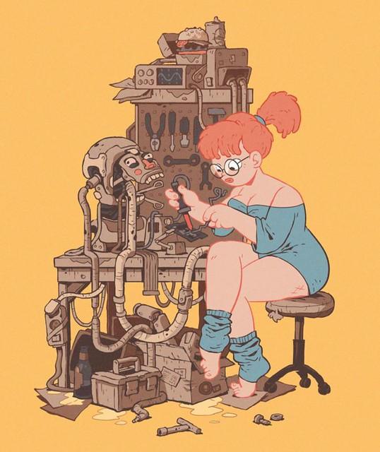 Illustration par Krzysztof Maziarz