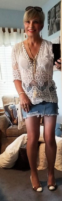 Mini Denim skirt..