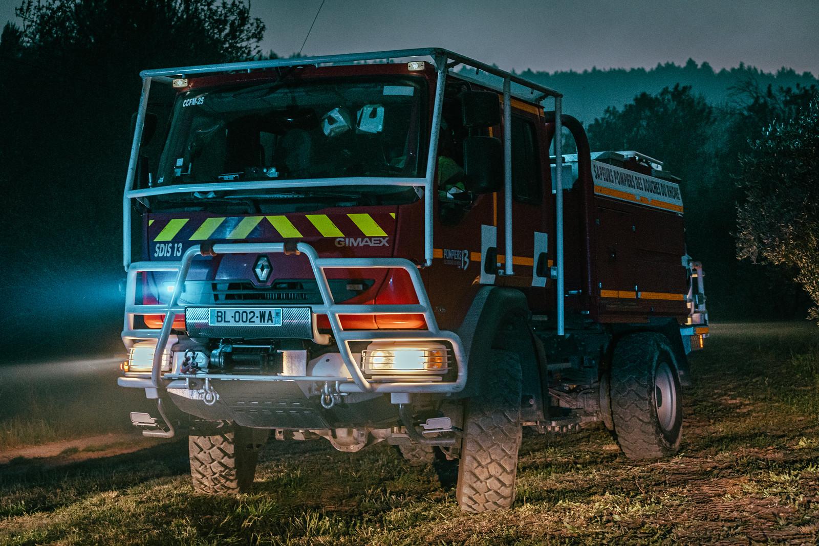 Premier feu de forêt de l'année pour les Pompiers13