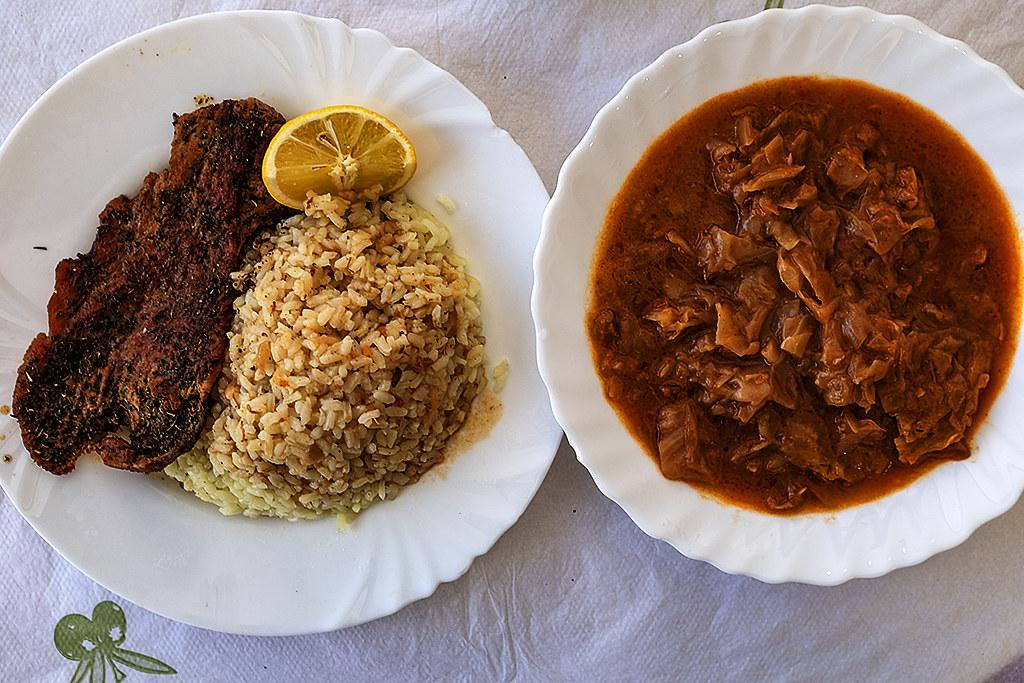 Meal at restaurant on Bogdaneve Street on 4-8-21--Tirana