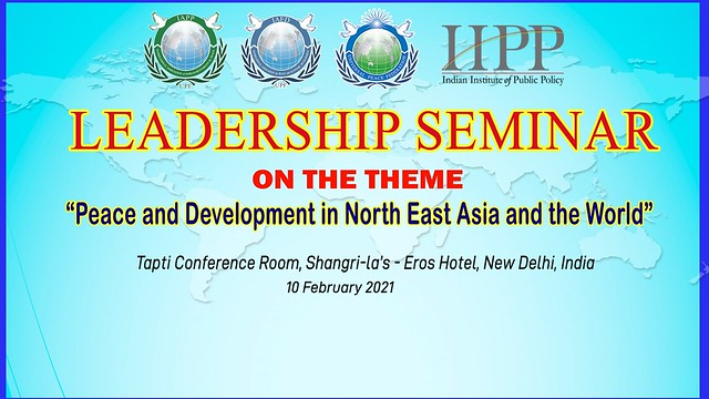 India-2021-02-10-Indian Diplomats Discuss Peace and Development in Northeast Asia