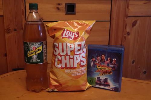 """American Ginger Ale und gesalzene Super Chips zum 80er-Jahre Film """"Zurück in die Zukunft 2"""""""