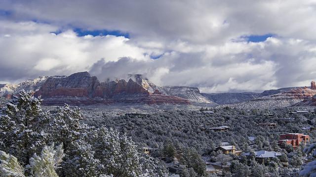 Snowy Sedona