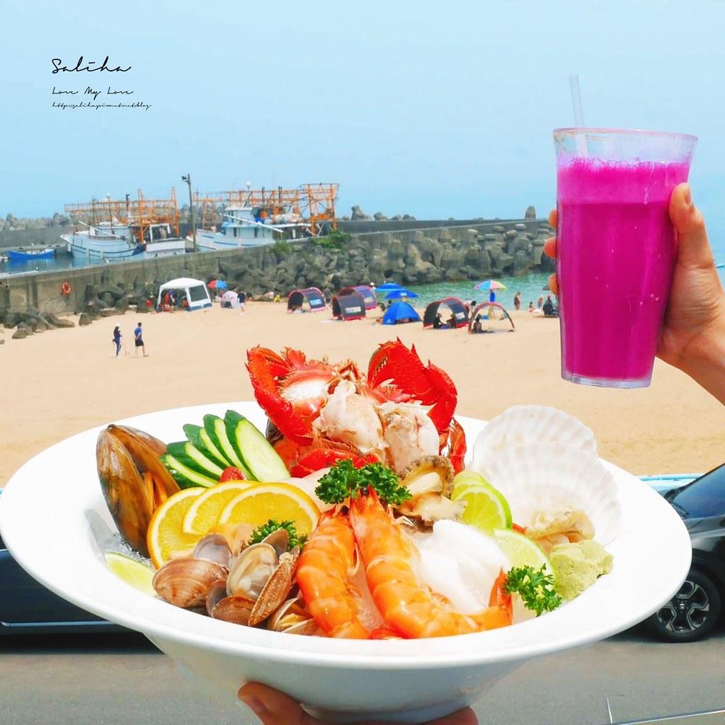 基隆景觀餐廳推薦喫吧海鮮平價海鮮米其林美食基隆外木山景觀咖啡水果冰海鮮 (1)