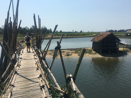 Hiking through the rice paddies outside Hoi An, Vietnam. Leaving Home to Find Ourselves, by Britt East