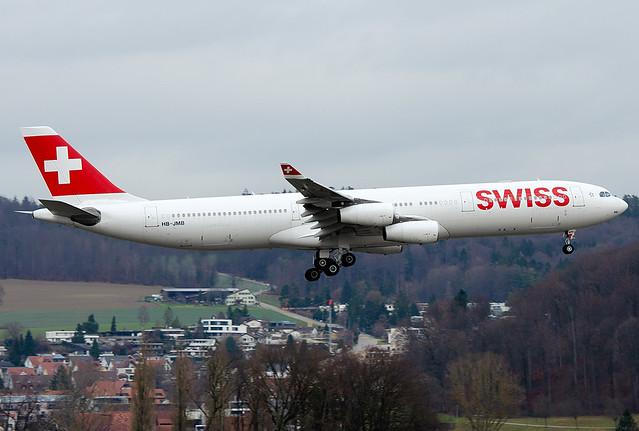 HB-JMB Swiss International Air Lines Airbus A340-313