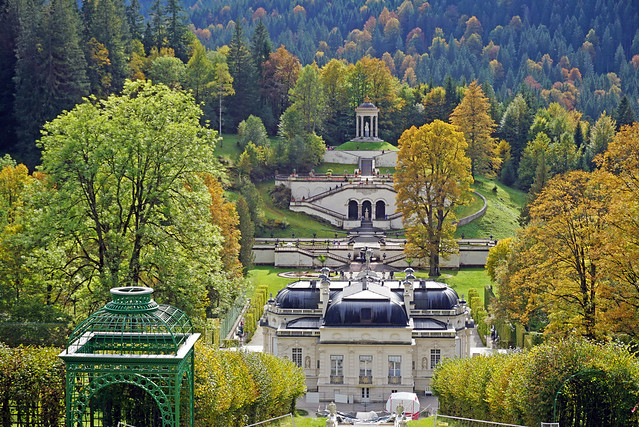View from Music Pavilion of Linderhof Palace and Gardens, Bavaria