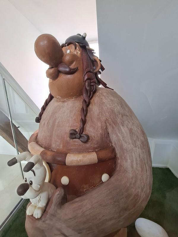 Figura de chocolate en el museo del chocolate