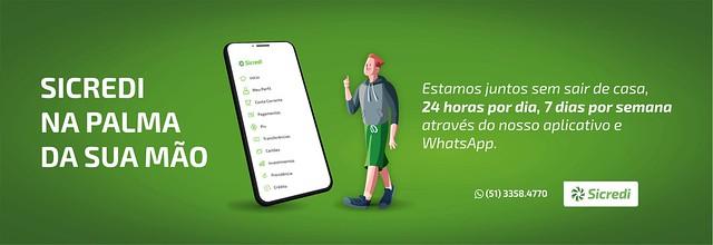Sicredi na palma da sua mão - baixe o app ou use nosso WhatsApp -