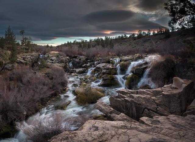 Cline Falls Sunset