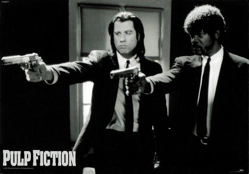 John Travolta and Samuel Jackson in Pulp Fiction (1994)